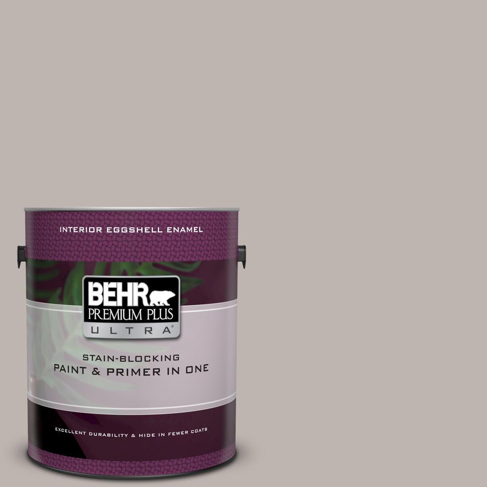 Behr Premium Plus Ultra 1 Gal Ul260 10 Graceful Gray Eggshell Enamel Interior