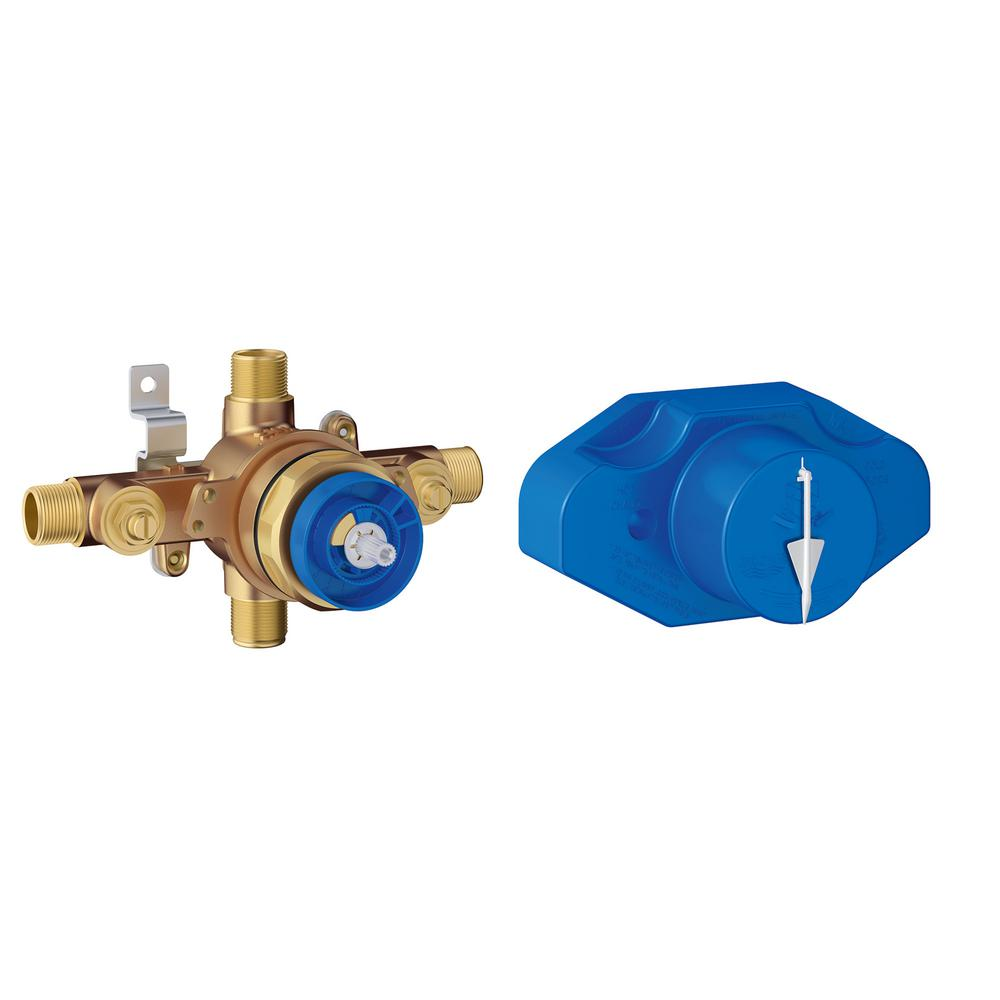 GROHE Pressure Balance Shower Rough-In Valve in Chrome-35015001 ...