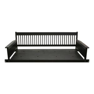 Plantation 2 Person Daybed Wooden Black Porch Patio Swing
