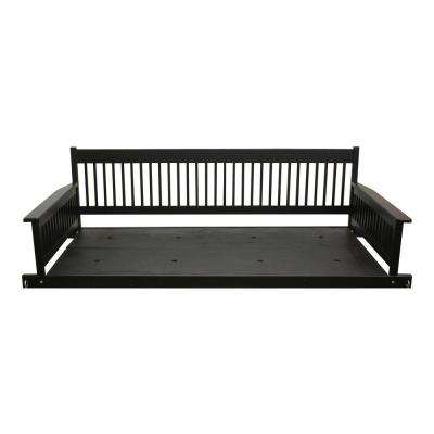 Plantation 2 Person Daybed Wooden Black Porch Patio Swing Part 49