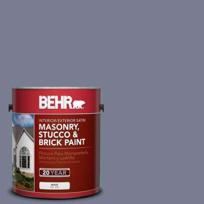 1-gal. #MS-77 Purple Storm Satin Interior/Exterior Masonry, Stucco and Brick Paint