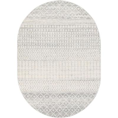 Laurine Gray 6 ft. 7 in. x 9 ft. Oval Area Rug