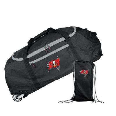 NFL Tampa Bay Buccaneers 36 in. Checked-In Rolling Duffel in Black