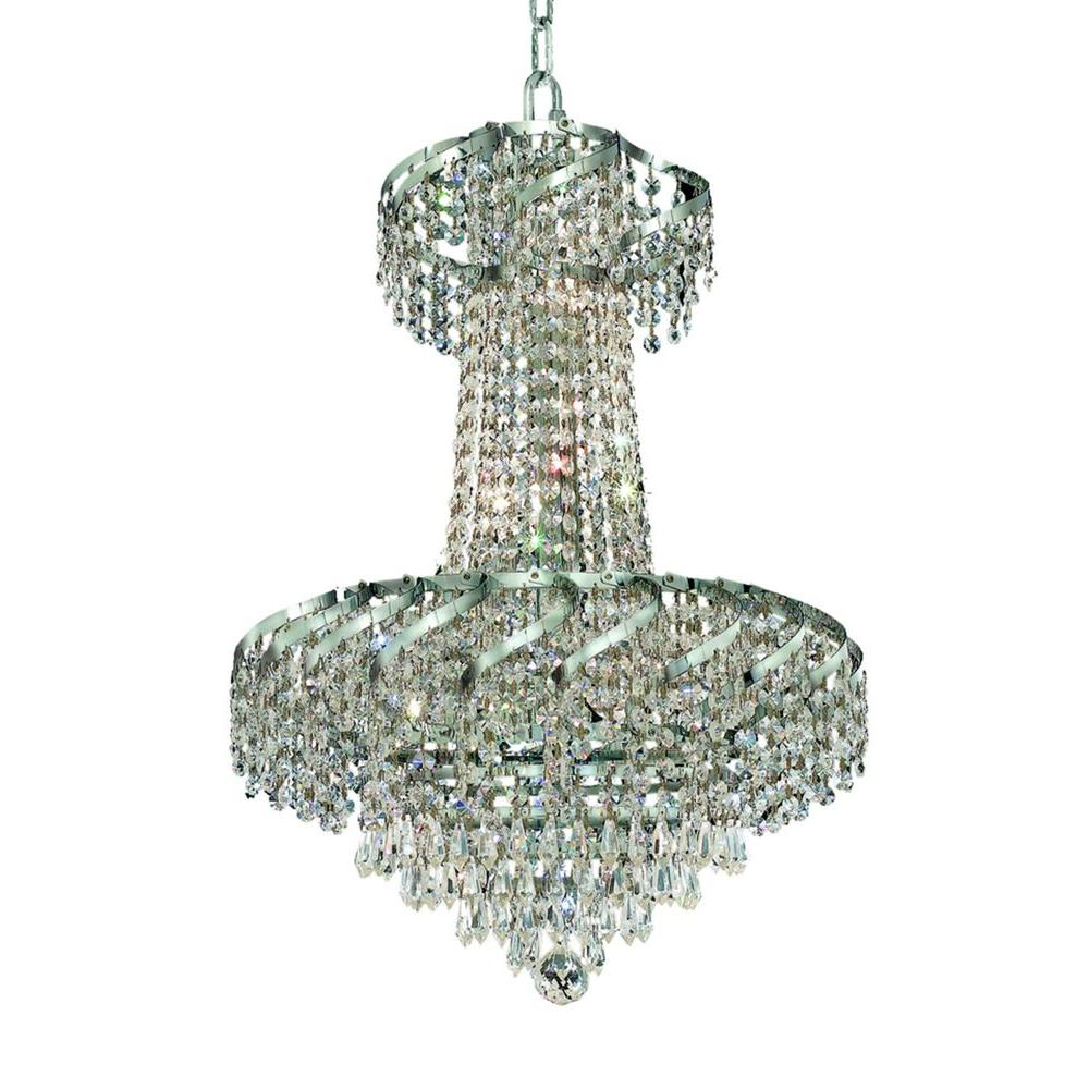 Elegant Lighting 6-Light Chrome Chandelier with Clear Crystal