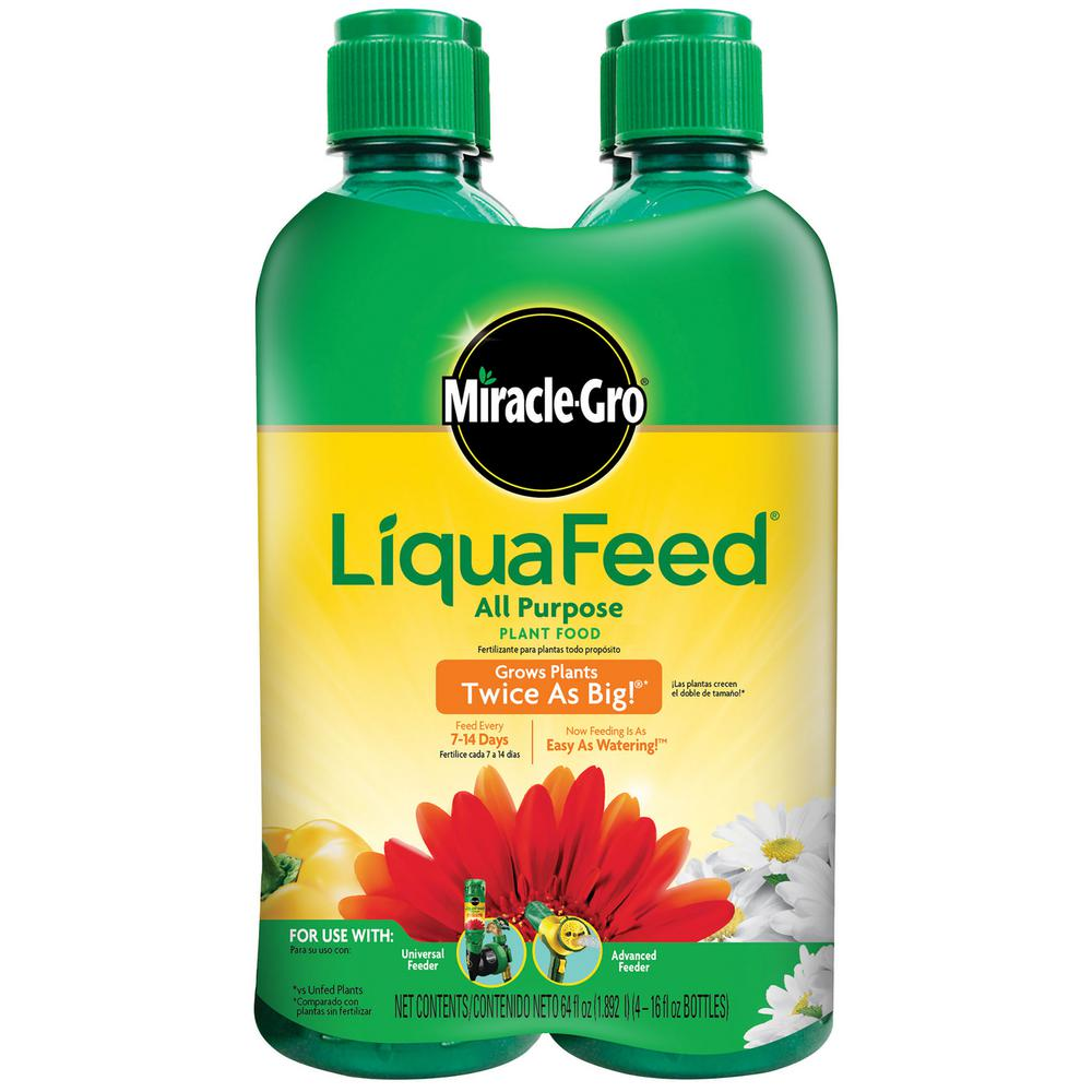 Miracle Gro Liquafeed 16 Oz All Purpose Plant Food Refills 4 Pack