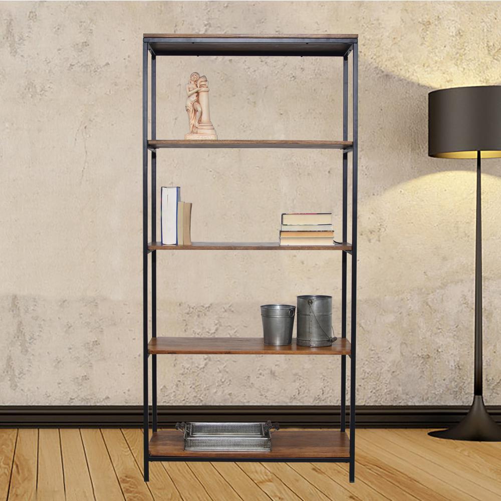 Brayden Rich Chestnut Open Bookcase