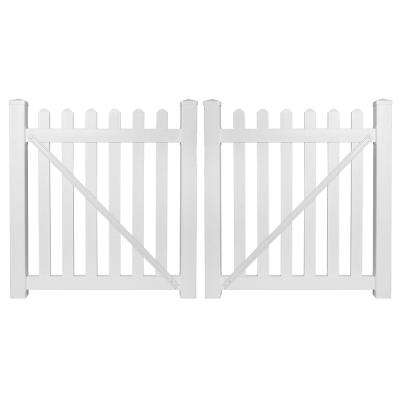 Chelsea 8 ft. W x 4 ft. H White Vinyl Picket Fence Gate