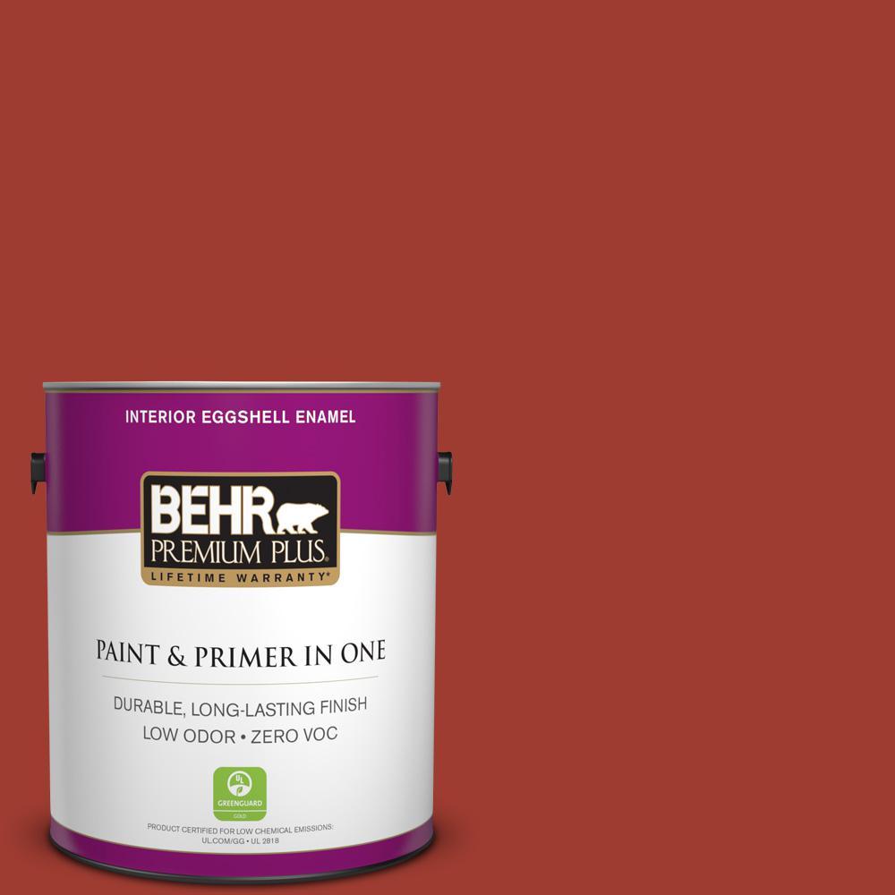 1 gal. #PPU2-16 Fire Cracker Zero VOC Eggshell Enamel Interior Paint