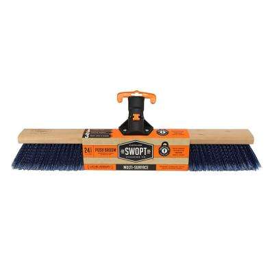 24 in. Premium Multi-Surface Push Broom Head