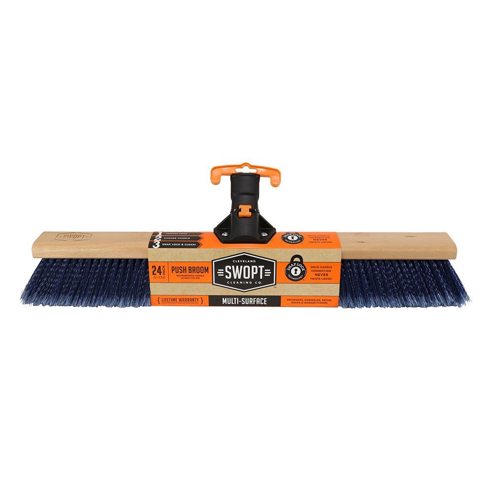 24 in. Premium Multi-Surface Push Broom Head