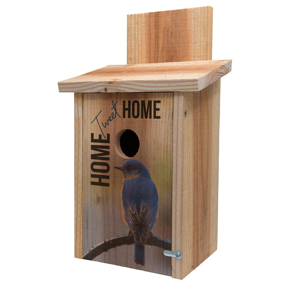 S And K Decorative Home Tweet Home Cedar Blue Bird House