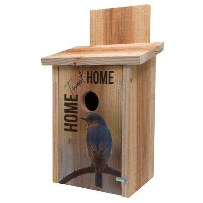Decorative Home Tweet Home Cedar Blue Bird House