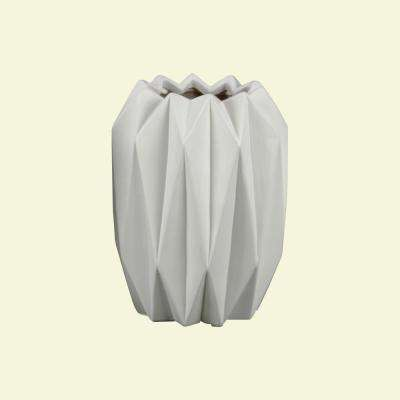 White Matte Finish Ceramic Decorative Vase