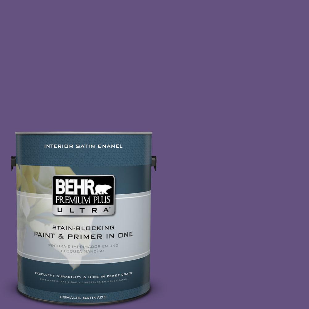 BEHR Premium Plus Ultra Home Decorators Collection 1-gal. #HDC-MD-25 Virtual Violet Satin Enamel Interior Paint