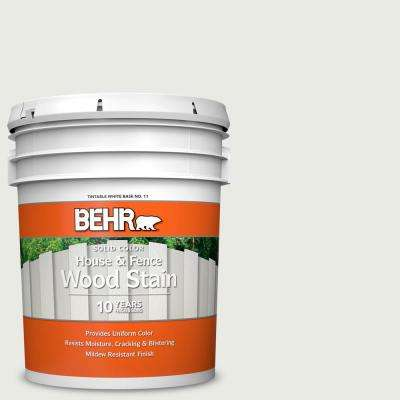 5 gal. #PPU12-12 Gallery White Solid Color House and Fence Exterior Wood Stain