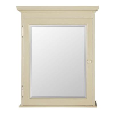 Cottage 23-3/4 in. W x 29 in. H x 8 in. D Surface-Mount Bathroom Medicine Cabinet in Antique White