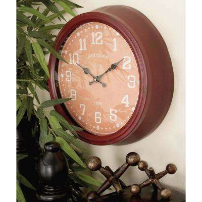 15 in. New Traditional Cordovan Wall Clock (Set of 4)