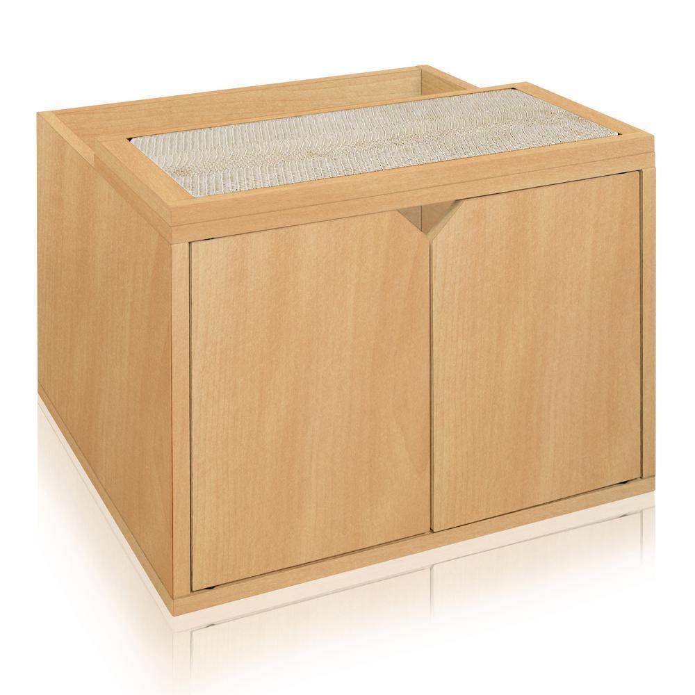 Modern Litter Box: Way Basics Eco ZBoard Natural Modern Cat Litter Box