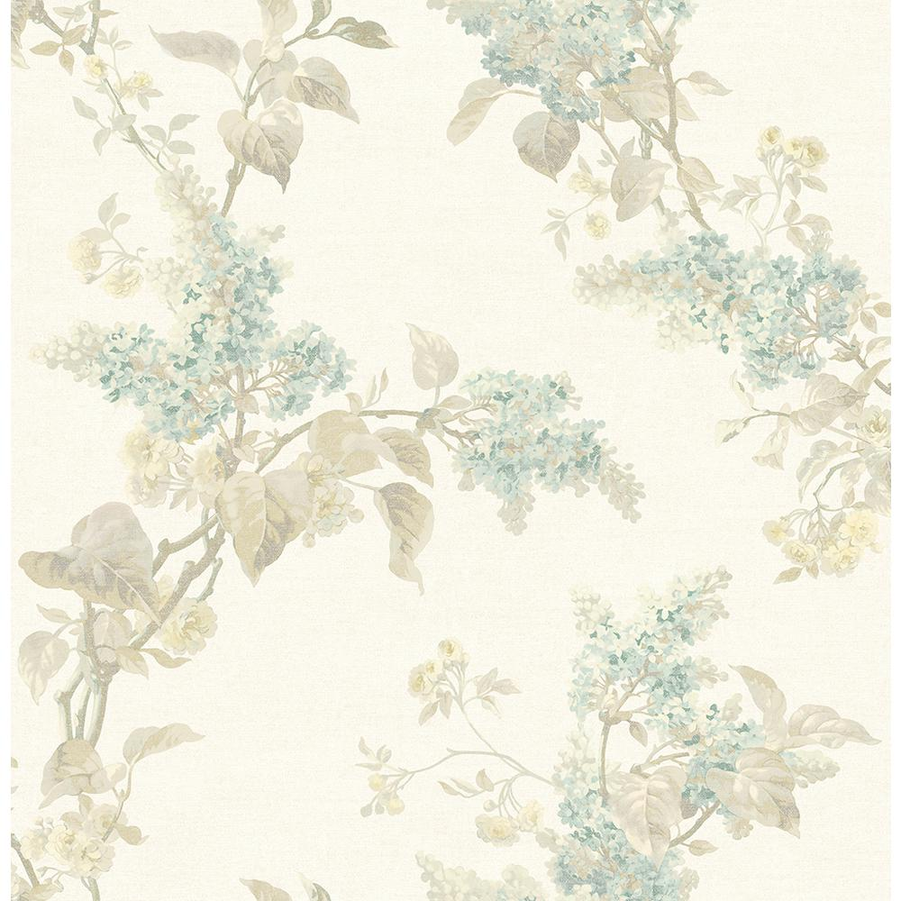 Brewster 8 In X 10 In Lyon Cream French Lilac Wallpaper Sample