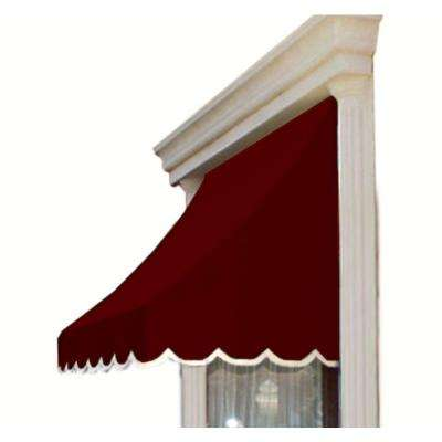 20 ft. Nantucket Window/Entry Awning (44 in. H x 36 in. D) in Burgundy