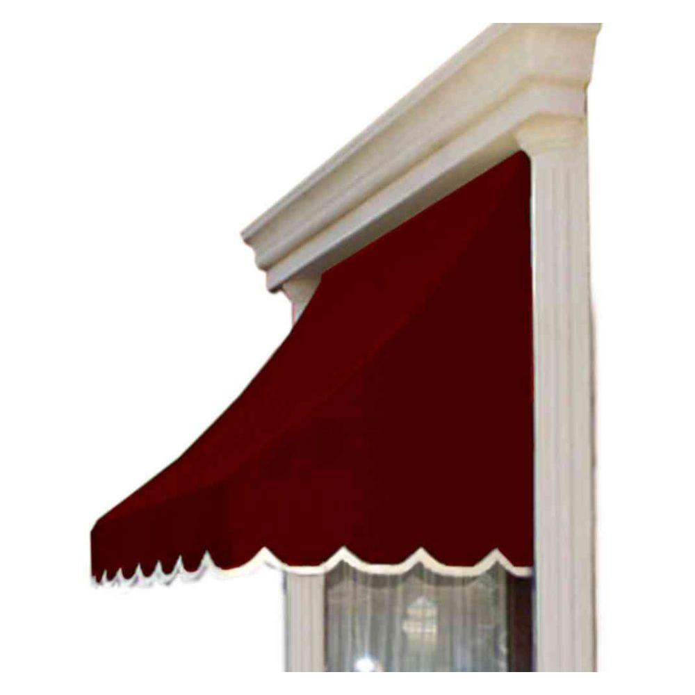 AWNTECH 35 ft. Nantucket Window/Entry Awning (44 in. H x 36 in. D) in Burgundy