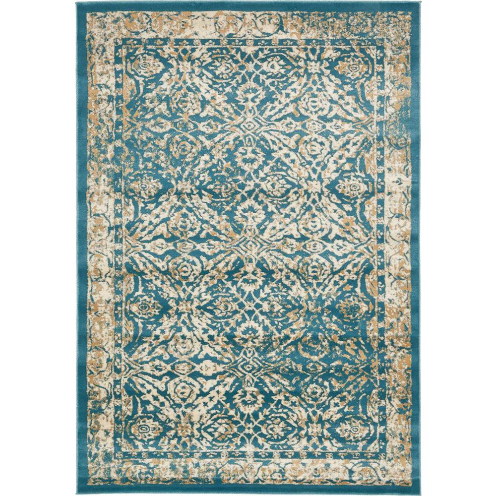 Unique Loom Oslo Teal 7 Ft. X 10 Ft. Area Rug-3128833