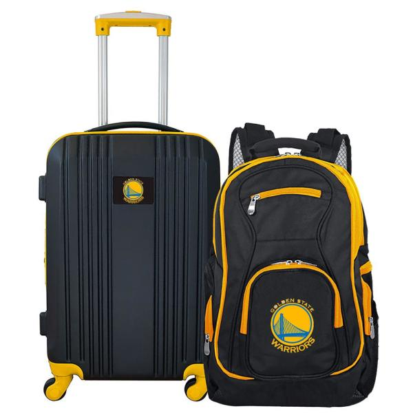Mojo NBA Golden State Warriors 2-Piece Set Luggage and Backpack NBGSL108