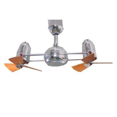 Gale Series 14 in. Indoor Polished Chrome Double Headed Ceiling Fan