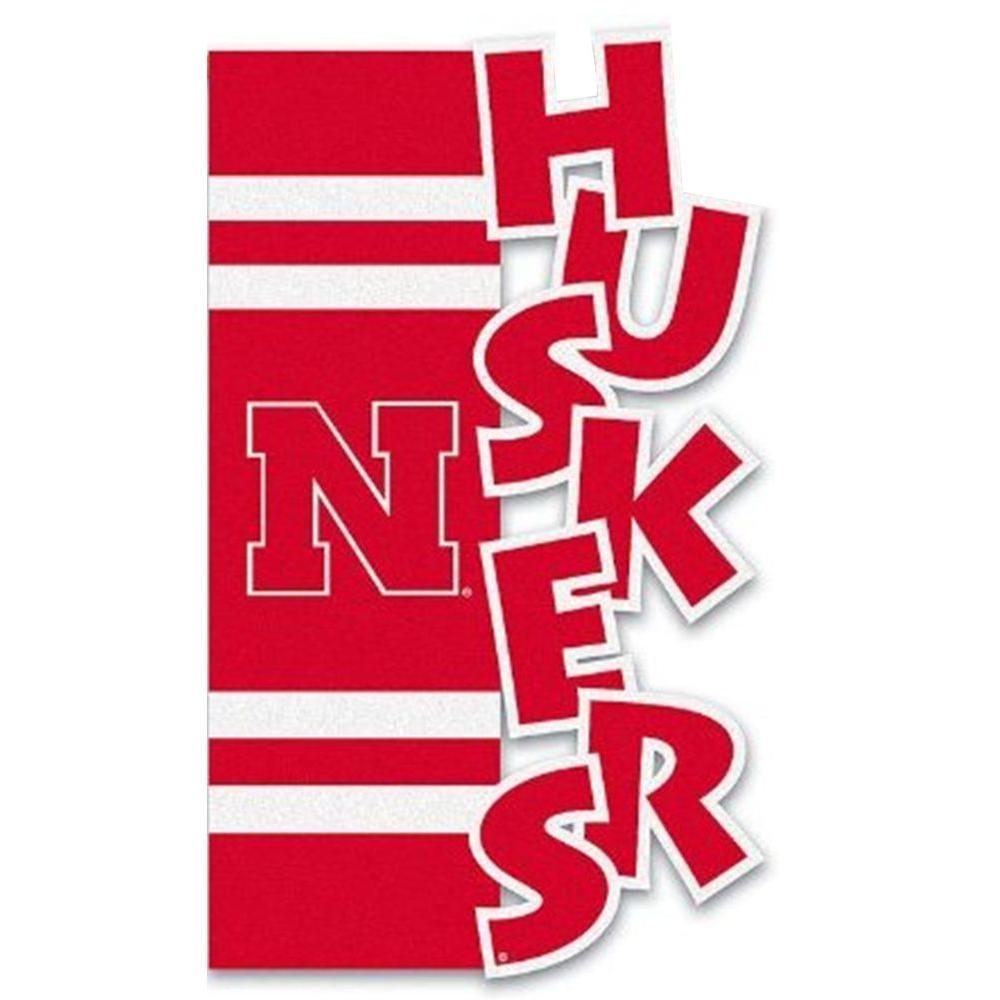 NCAA 12-1/2 in. x 18 in. Nebraska Sculpted Garden Flag