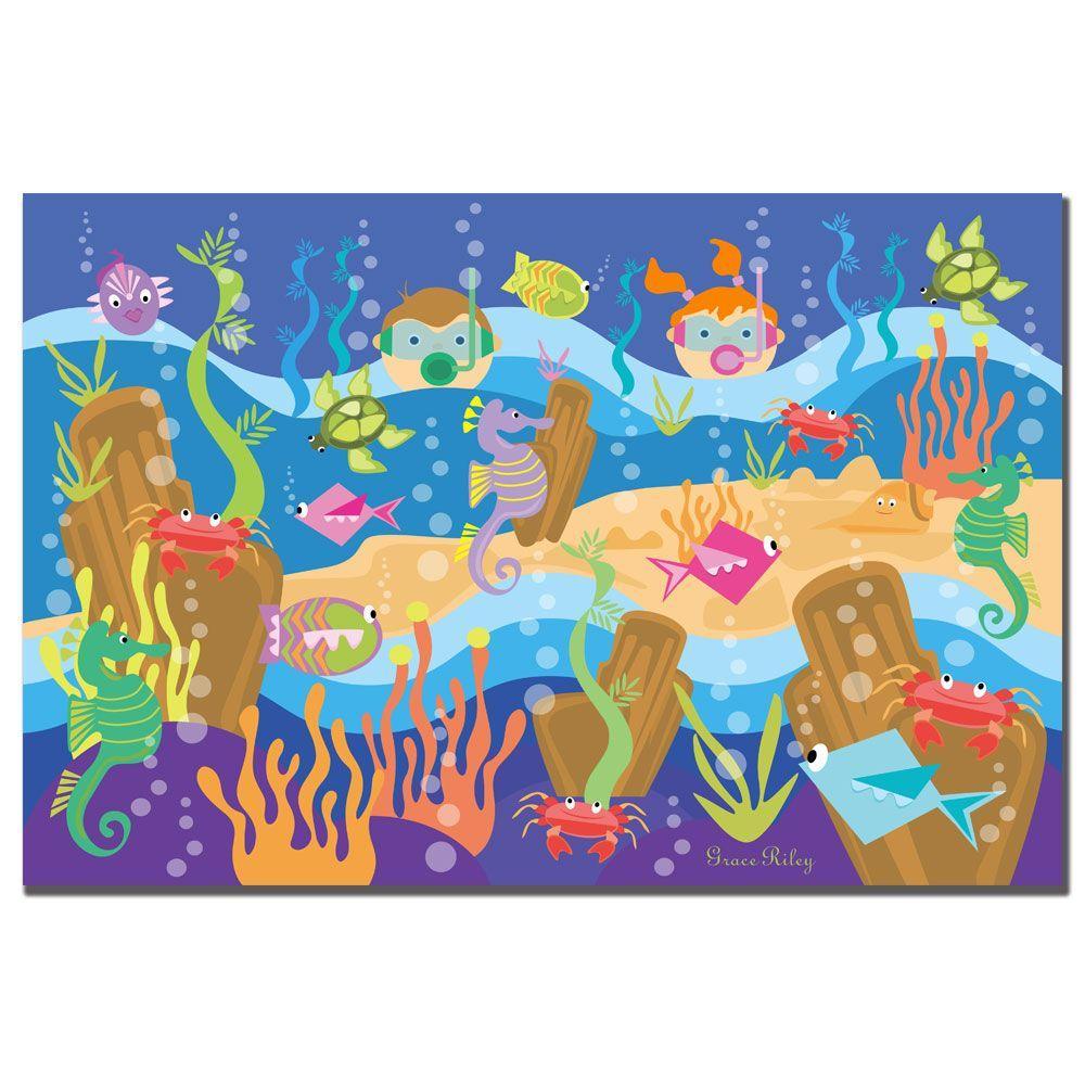 Trademark Fine Art 14 in. x 19 in. Underwater Adventures Canvas Art