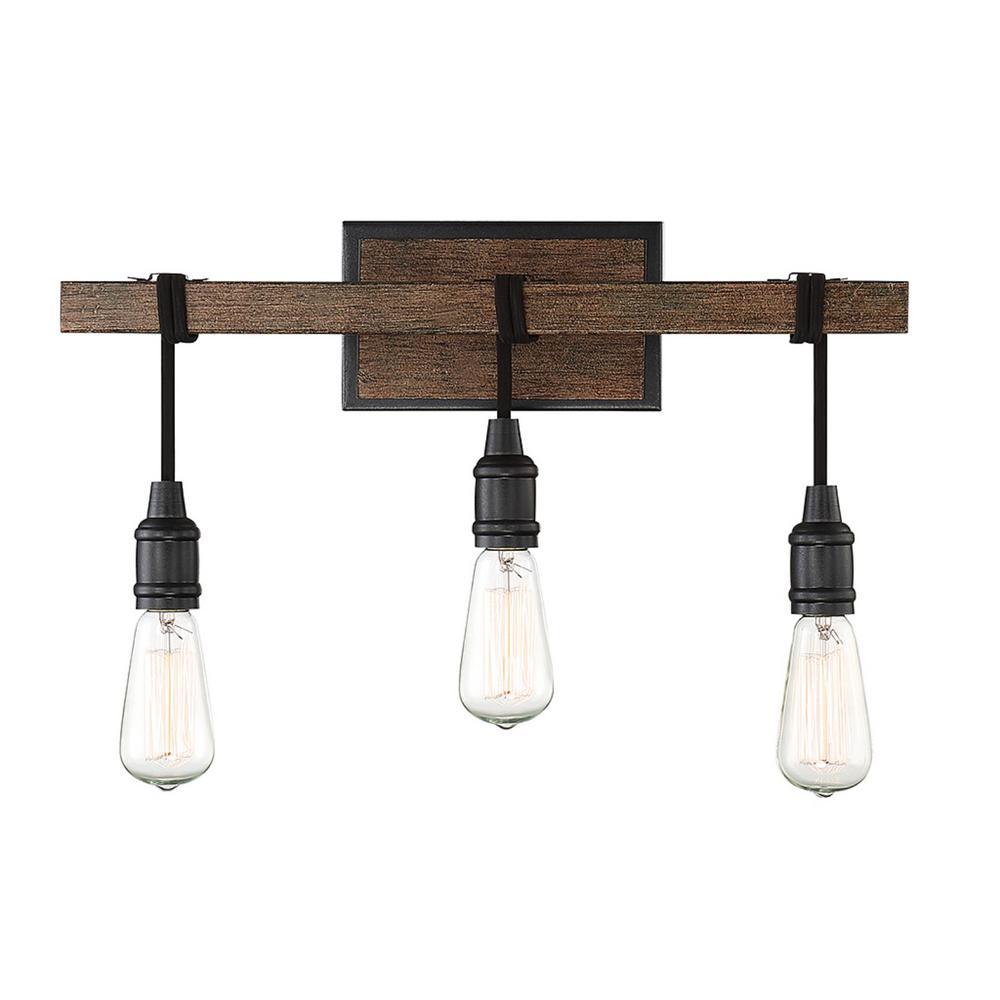Filament Design 20 in. 3-Light Durango Vanity Light