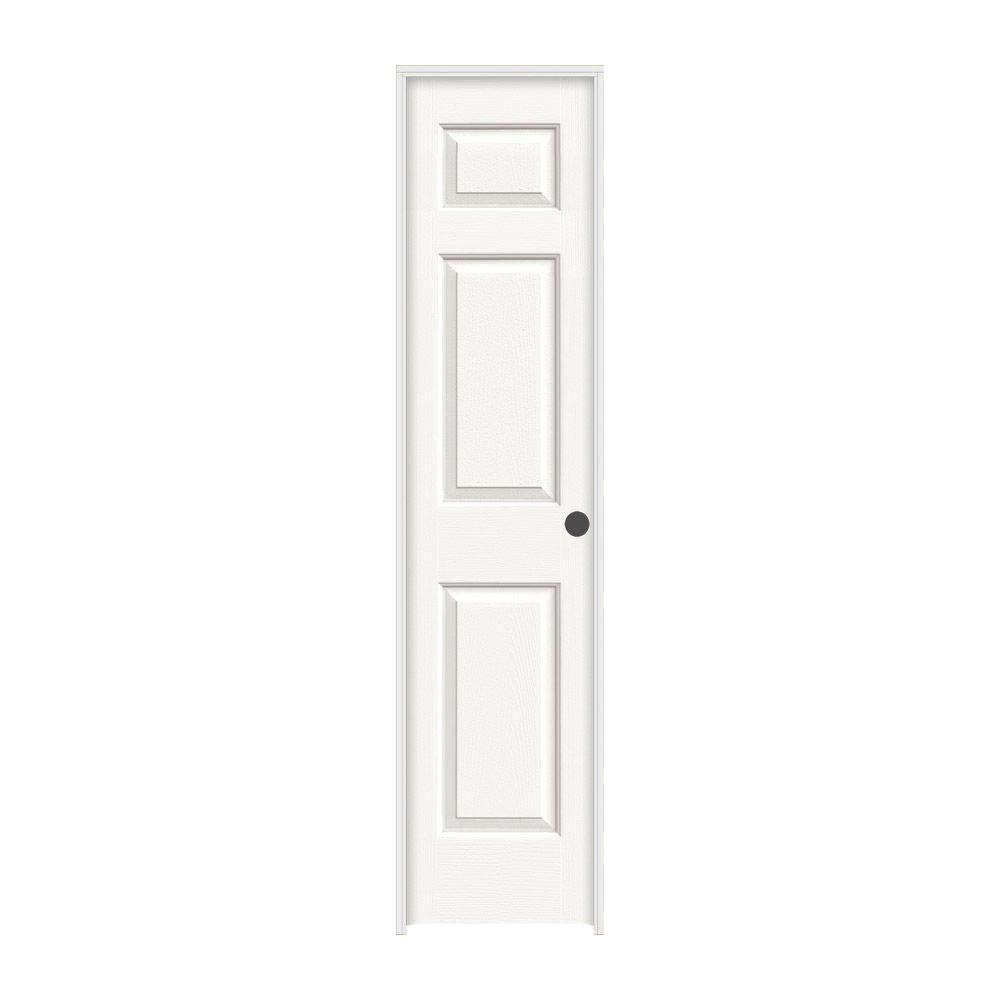 Colonist White Painted Left Hand Textured Molded Composite Mdf Single Prehung Interior Door