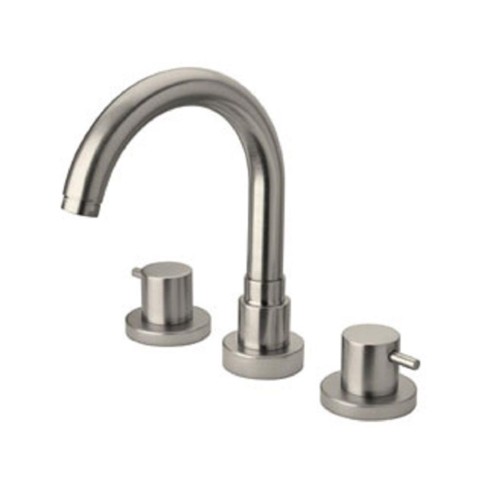 LaToscana Elba Lever 2-Handle Free-Standing Roman Tub Faucet in Brushed Nickel