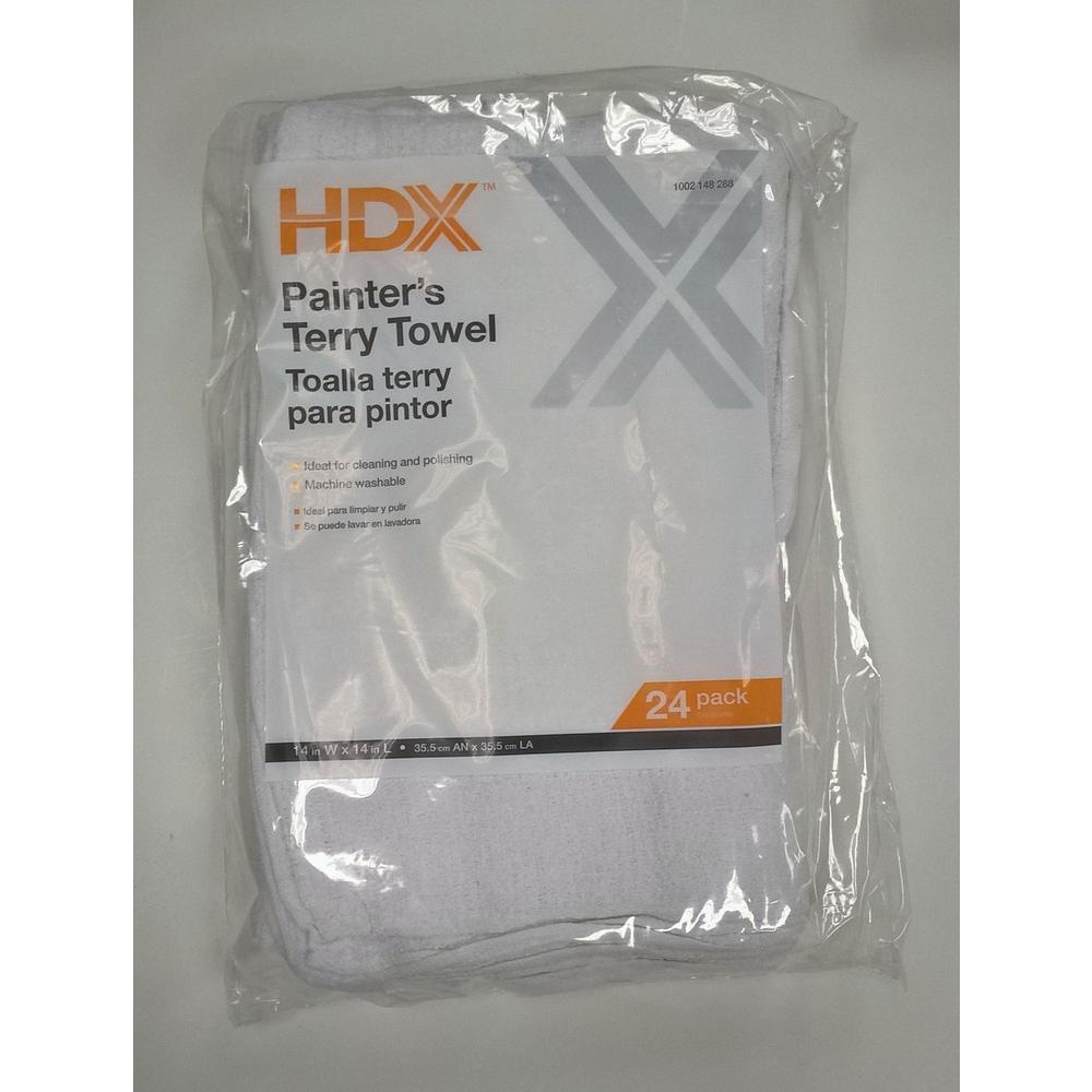 14 in. x 14 in. 19 oz. Terry Towel (24-Pack)