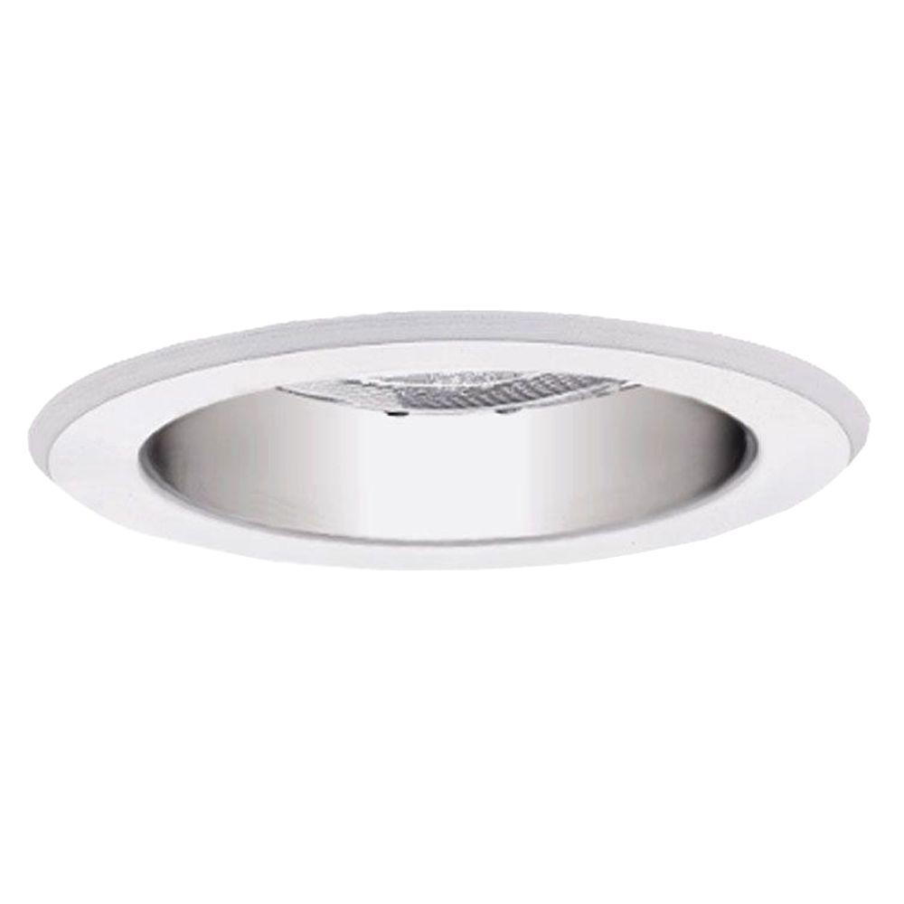 Halo 951 series 4 in white recessed ceiling light with lensed clear recessed ceiling light with specular reflector cone with mozeypictures Choice Image