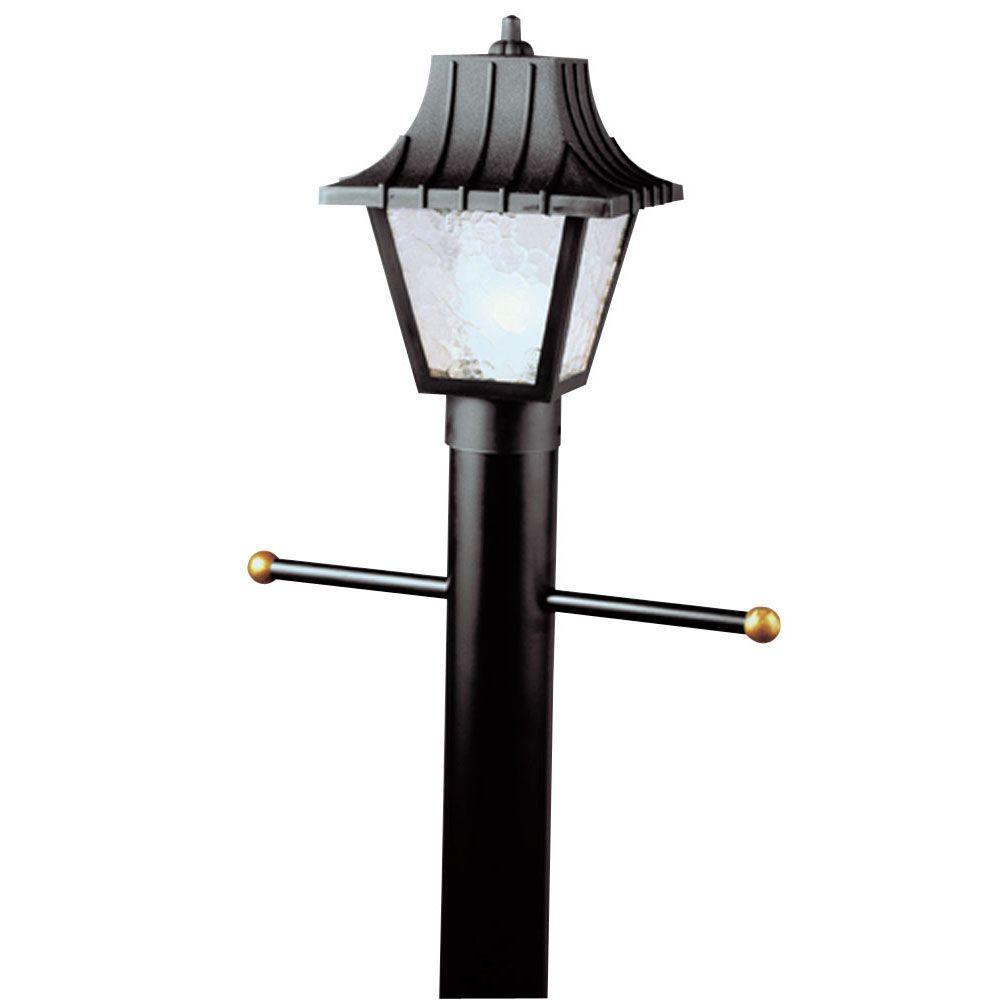 Westinghouse 1 light black hi impact polycarbonate post for 59 victorian lighted black lamp post christmas decoration