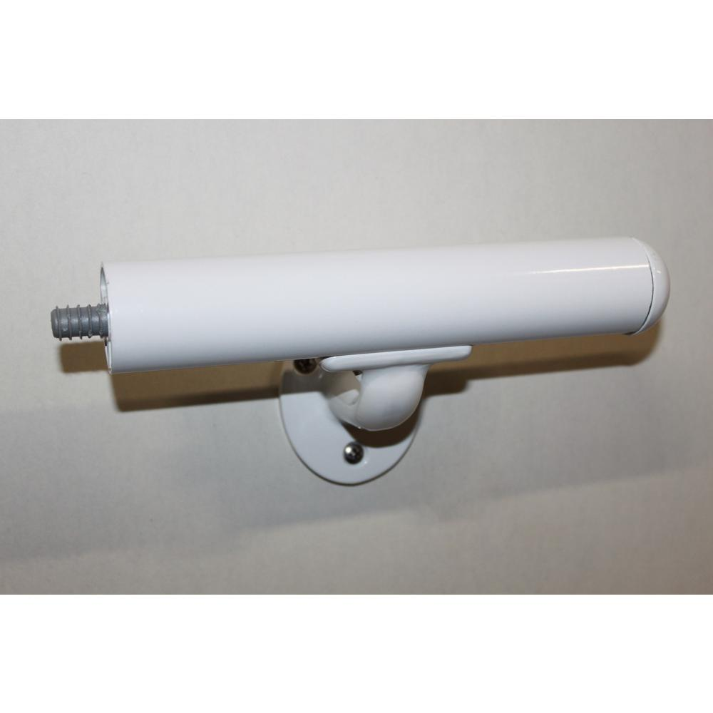 Prova White Aluminum 79 in. Long Handrail Kit