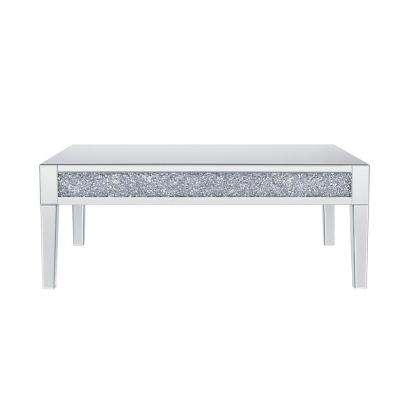 Noralie Mirrored and Faux Diamonds Coffee Table