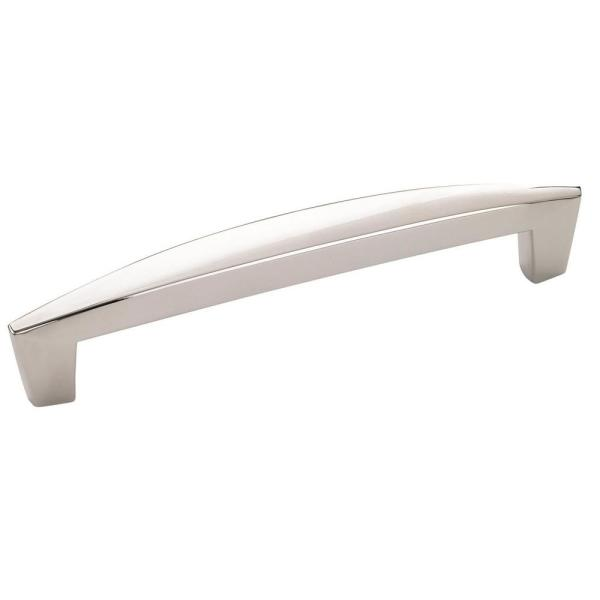Creased Bow 5-1/16 in (128 mm) Center-to-Center Polished Chrome Cabinet Drawer Pull