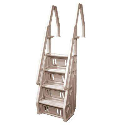 Deluxe 24 in. In-Pool Step for Above Ground Pools in Taupe