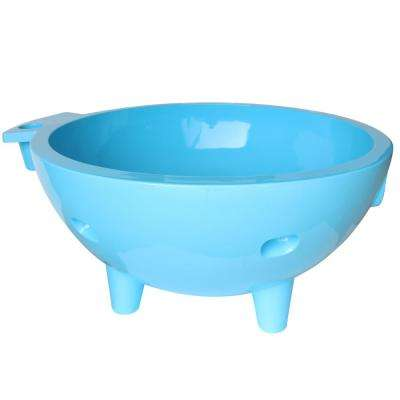 FireHotTub-LB 4-Persons 63 in. Acrylic Flatbottom Bathtub in Light Blue