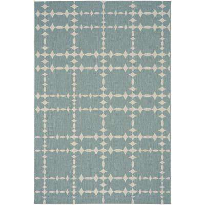 COCOCOZY Elsinore Tower Court Blue - 7 ft. 10 in. x 11 ft. Area Rug