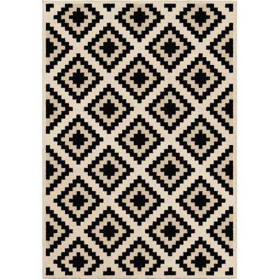 Carres Ivory 7 ft. 10 in. x 10 ft. 10 in. Indoor Area Rug