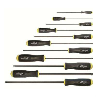 Standard Ball End Long L Screwdriver Set with ProGuard (11-Piece)