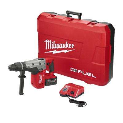 M18 FUEL 18-Volt Lithium-Ion Brushless Cordless 1 9/16 in. SDS-Max Rotary Hammer Kit W/ (1) 9.0Ah Battery, Hard Case