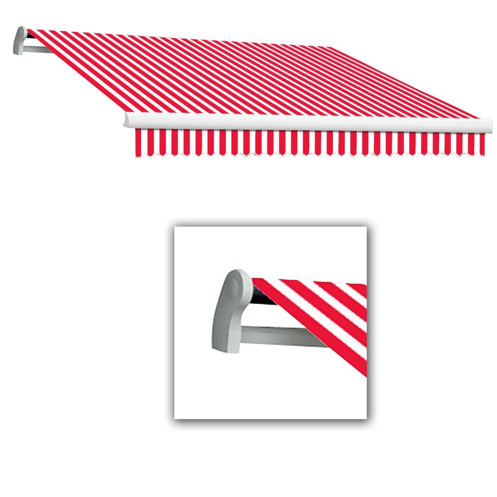 AWNTECH 18 ft. LX-Maui Manual Retractable Acrylic Awning (120 in. Projection) in Red/White