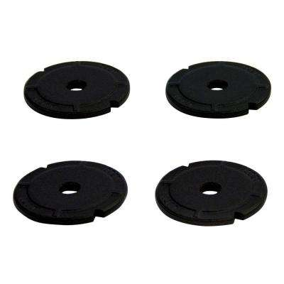 2 in. Black Galvanized Steel Heavy Duty Washer (4-Pack)