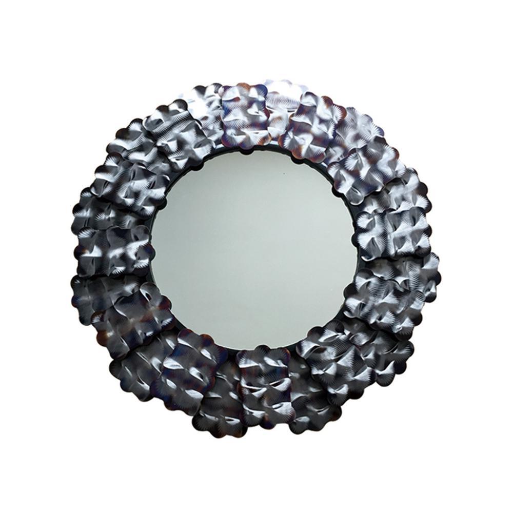Bardot Circle Flamed Decorative Mirror