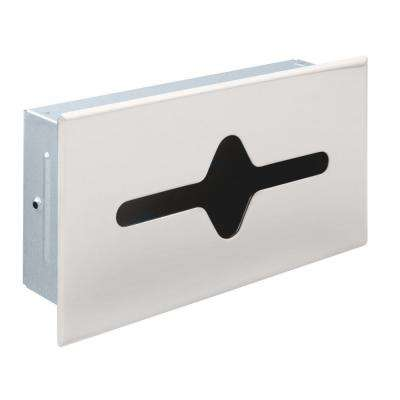 Recessed Facial Tissue Dispenser in Bright Stainless