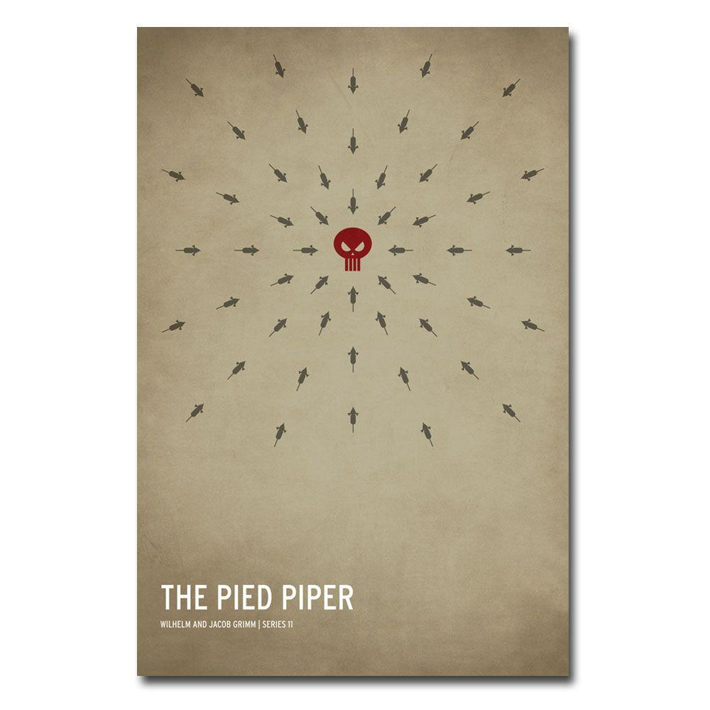 30 in. x 47 in. The Pied Piper Canvas Art